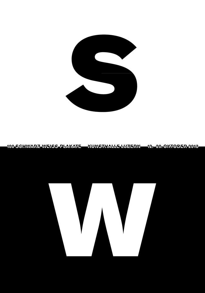 100 Schwarz-Weiss-Plakate