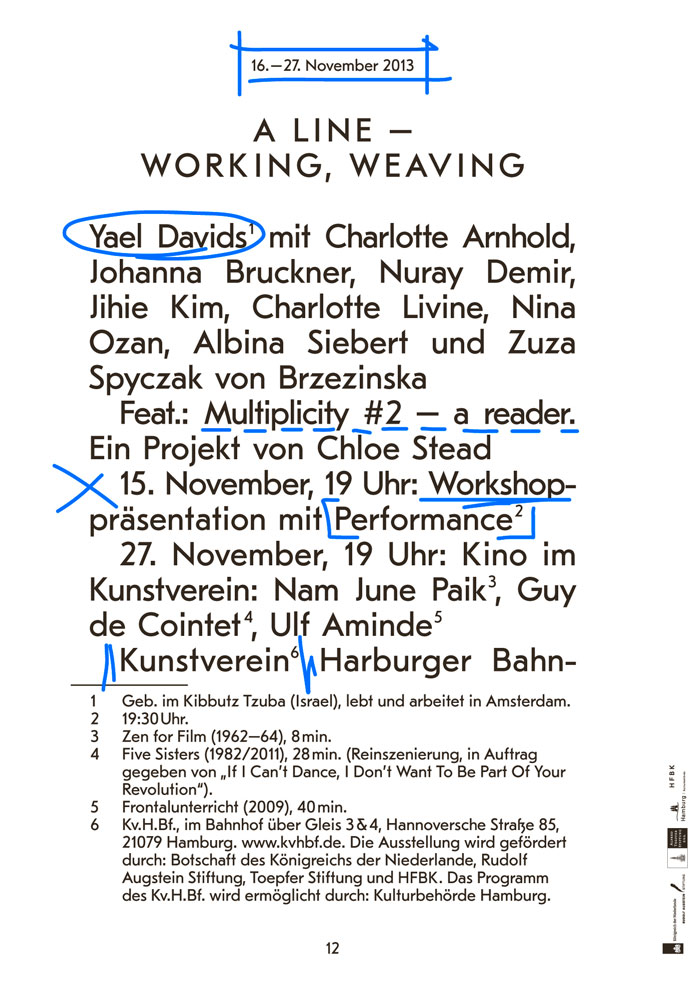 A Line – Working, Weaving.