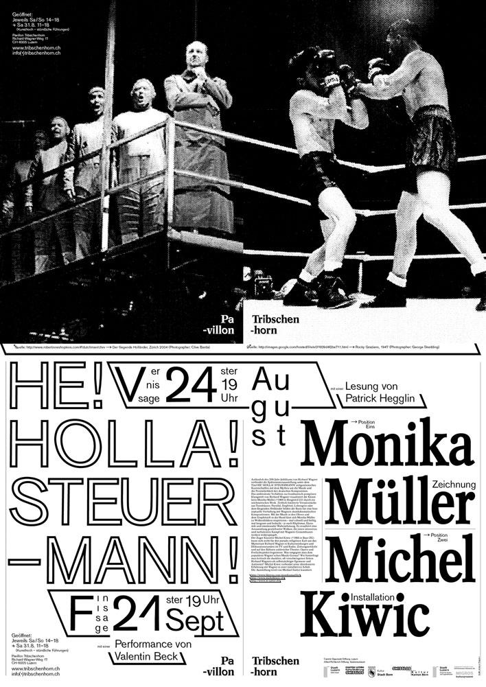 Themenausstellung »He! Holla! Steuermann!« von Monika Müller und Michel Kiwic