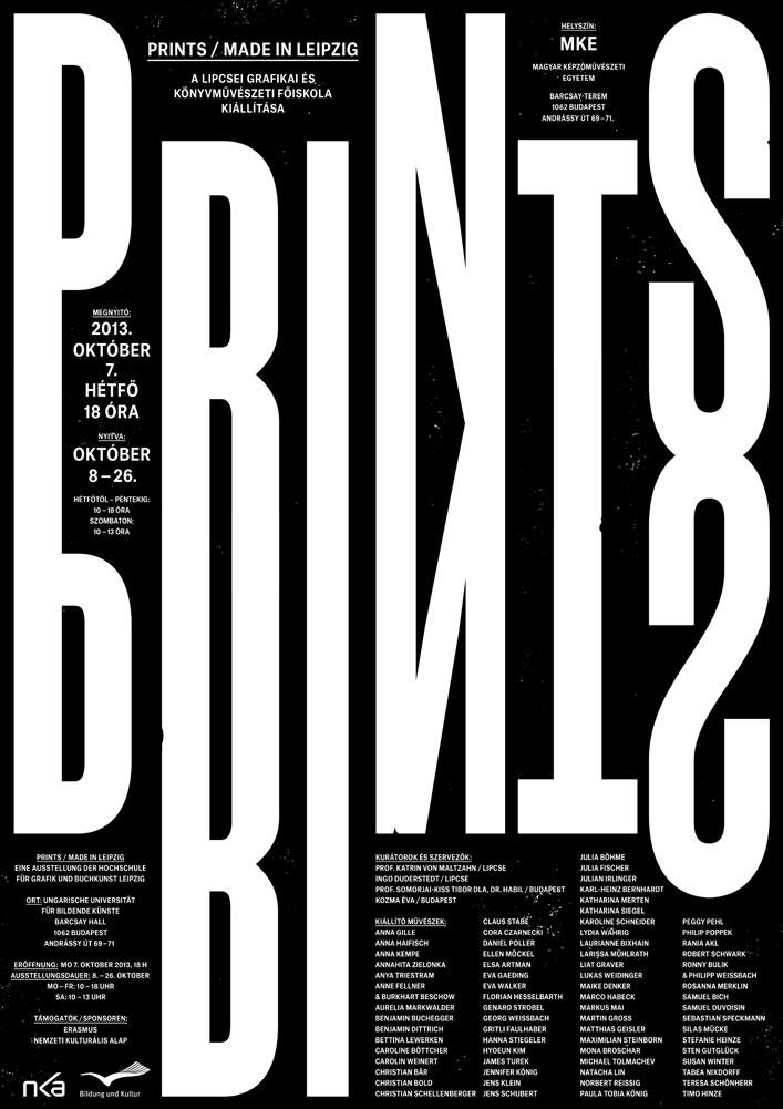 Prints – Made in Leipzig Ausstellungsplakat