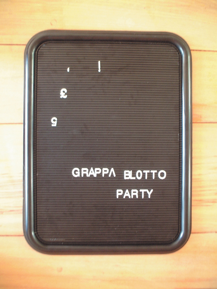 grappa blotto party
