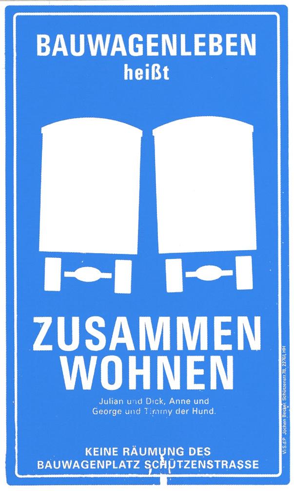 Keine Räumung des Bauwagenplatzes Schützenstraße!