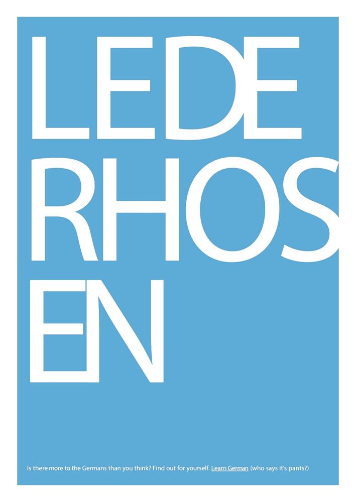 Learn German - Poster Kampagne an Britischen Schulen und Hochschulen