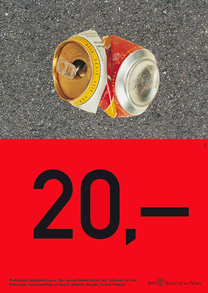 Saubere Stadt - Serie von drei Plakaten