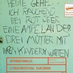 Literaturfestival Karlsruhe 02 - Serie von drei Plakaten