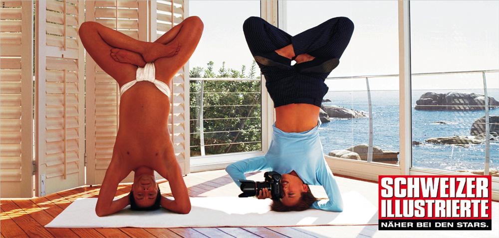 Yoga - Serie von drei Plakaten