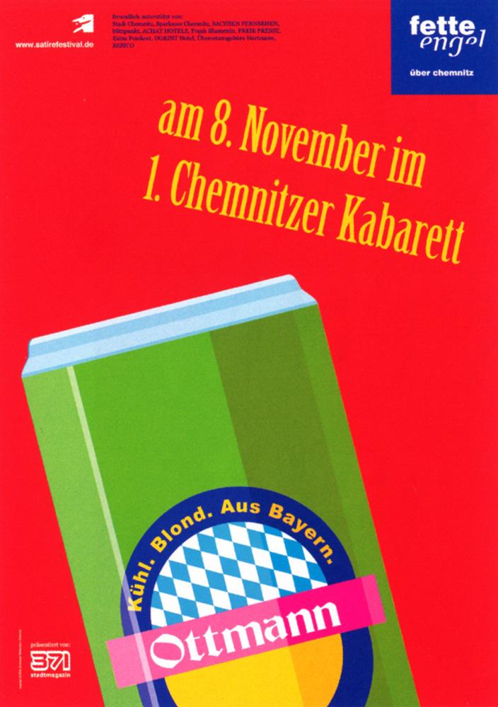 Fette Engel über Chemnitz - Serie von vier Plakaten