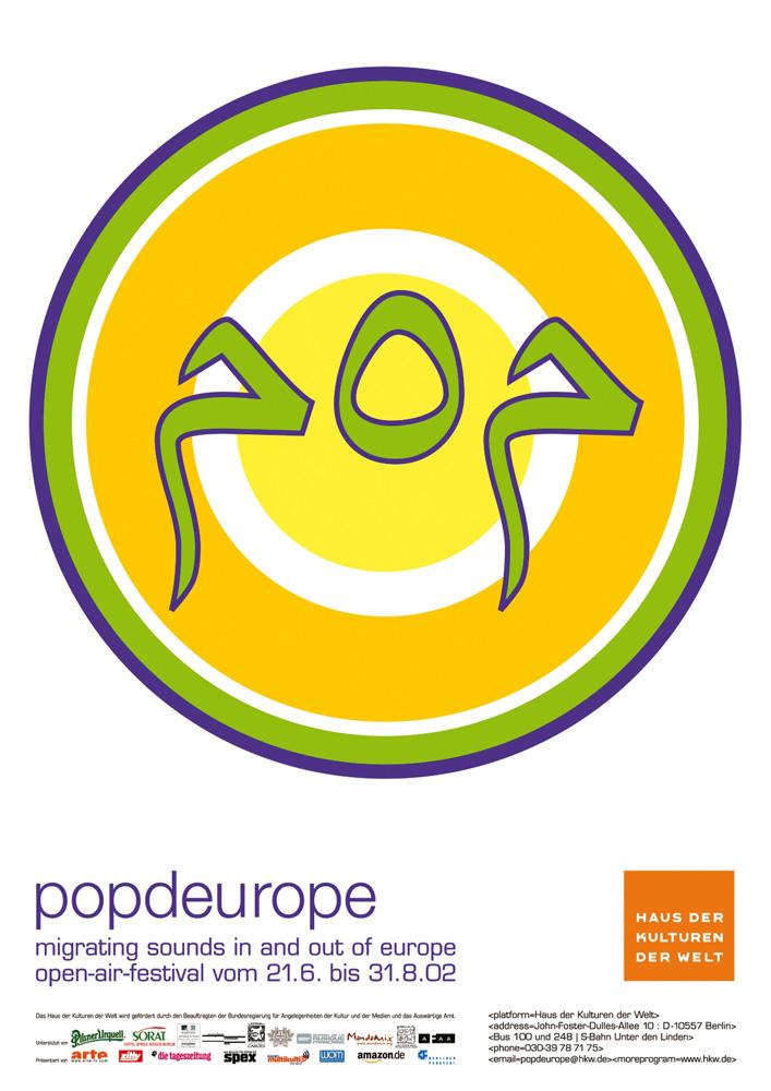 popdeurope - Serie von zwei Plakaten