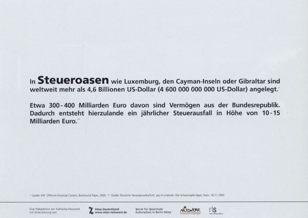 Globalisierung - Serie von drei Plakaten