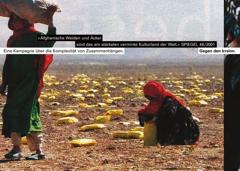 Plakatserie »Gegen den Irrsinn«