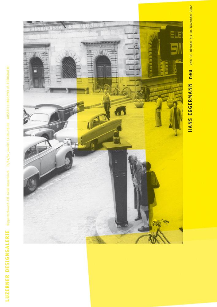 Zyklus Fotoausstellung 2002 in der Luzerner Designgalerie - Serie von drei Plakaten