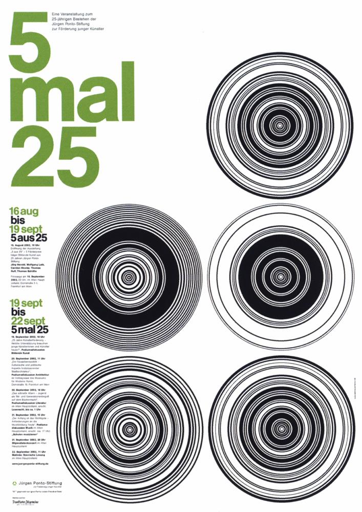 5 mal 25 - Serie von zwei Plakaten