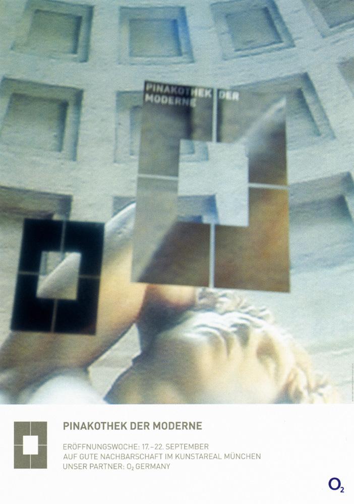 Kampagne - Pinakothek der Moderne - Serie von zwei Plakaten
