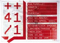 ++41/1 Kulturelle Grafik aus Zürich