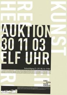 Serie Ausstellungsplakate: Wolfgang Vetten - Jürgen Paas - Kunstauktion