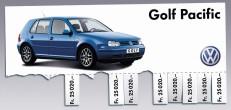 aus der Serie VW Golf: Zettelplakat