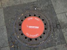 aus einer Serie für Qantas Airways Limited: one-way