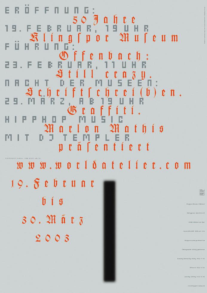 aus der Serie: 50 Jahre Klingspor Museum Offenbach