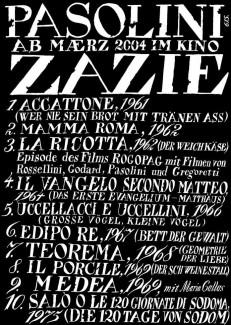 Pasolini im Kino Zazie