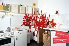Kunst klebt - Schlafzimmer / Küche