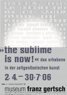 »the sublime is now?« das erhabene in der zeitgenössischen kunst