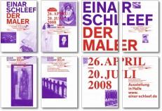 Modulares Plakatsystem zur Ausstellung »Einar Schleef. Der Maler«