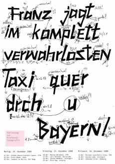 Vorlesung zur Professur Typografie