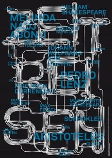 Zeitreisen – Plakat für Luzern Bucht: Literaturfest, Buchmarkt, Anagrammtage