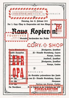 Raus Kopieren! – 3. Copy Shop im Klingspor Museum