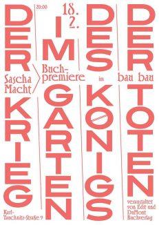 Lesung Sascha Macht