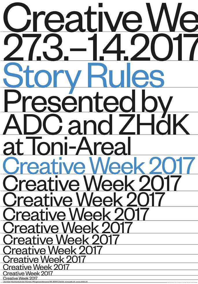 Creative Week 2017: Story Rules [Titelplakat]