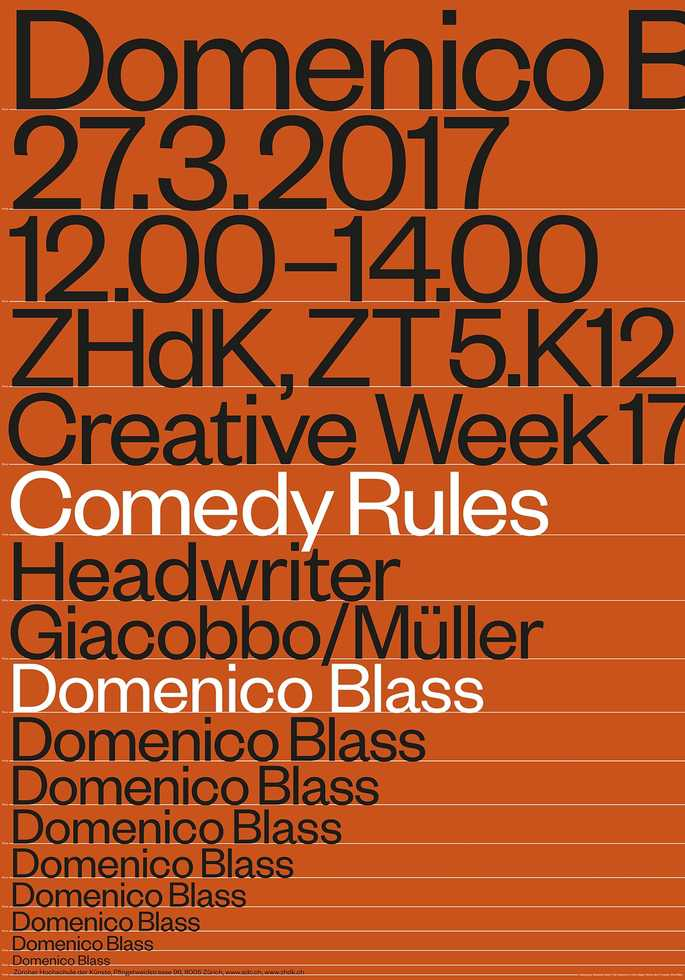 Domenico Blass: Comedy Rules
