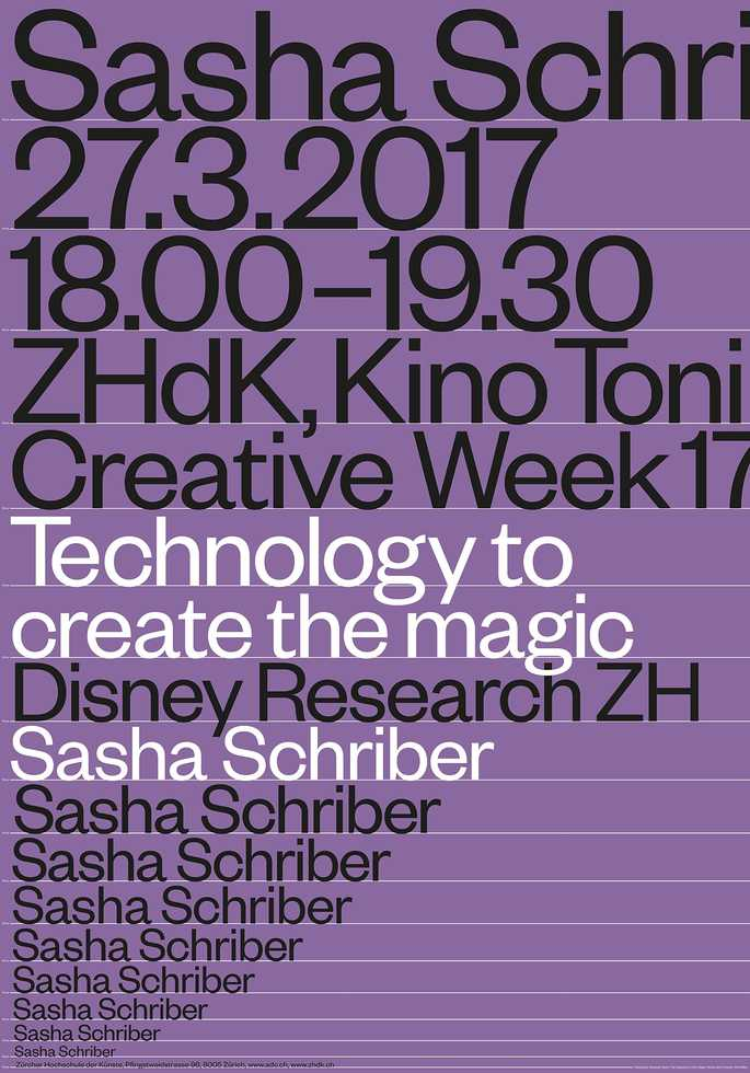 Sasha Schriber: Technology to create the magic