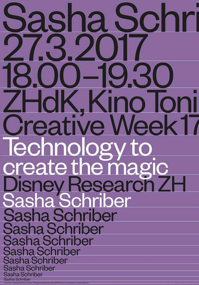 Sasha Schriber: Technology to create the magic