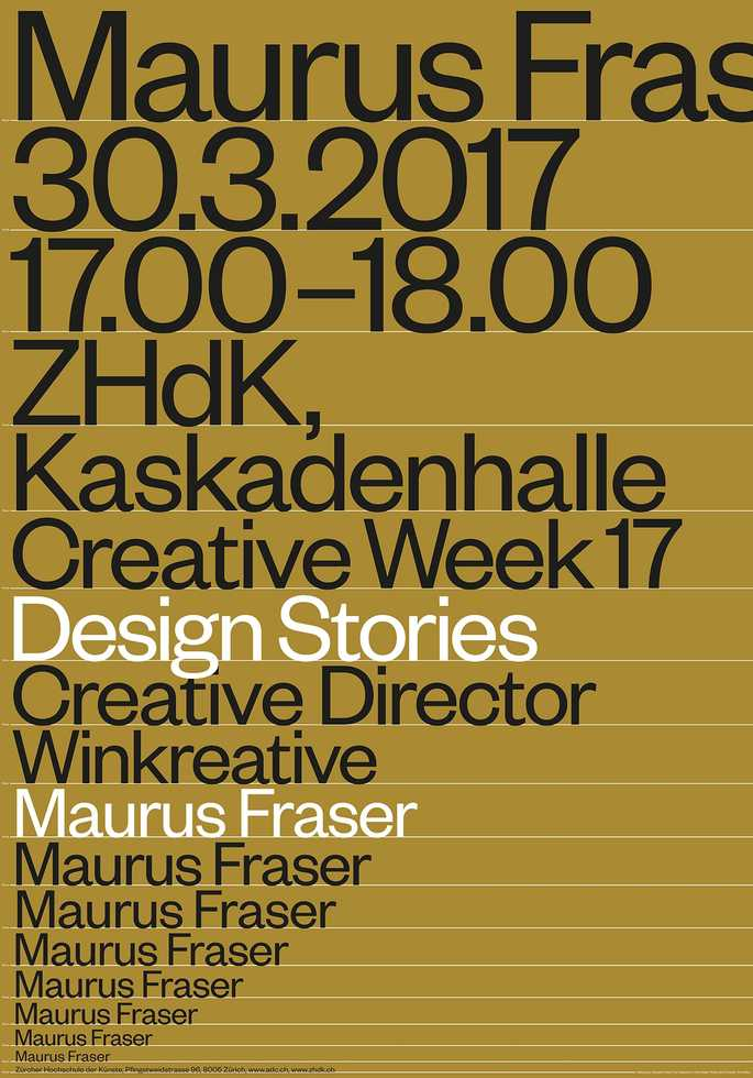 Maurus Fraser: Design Stories