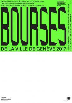Bourses de la Ville de Genève 2017 [Stipendien der Stadt Genf 2017]